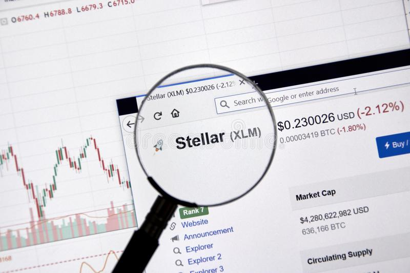 Stellar price under magnifying glass. royalty free stock images