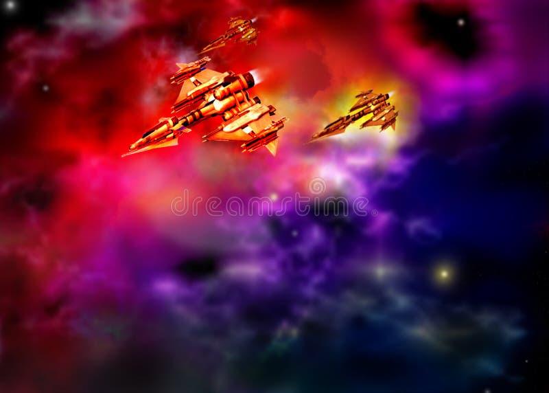 Stellar ships vector illustration
