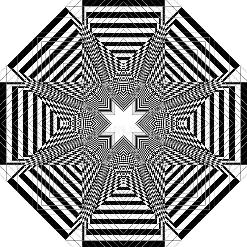 Stellar Ventilator Turbine wie Struktur arabesque Illusion arabesque Satelit inspirierte Struktur abstrakte Schnitt Kunst Deco Il lizenzfreie abbildung