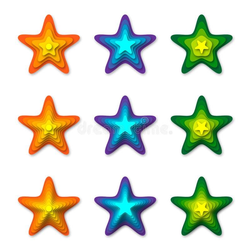 stelle 3D illustrazione vettoriale