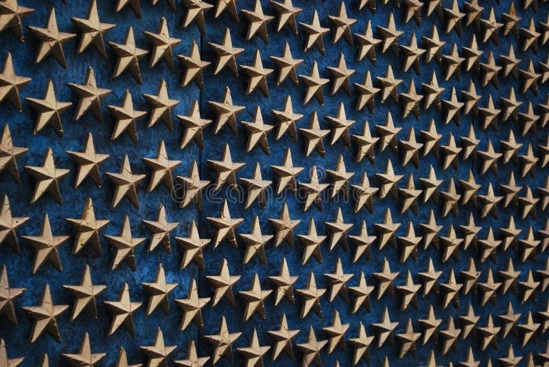Stelle al memoriale 3 di WWII - Washington DC fotografia stock