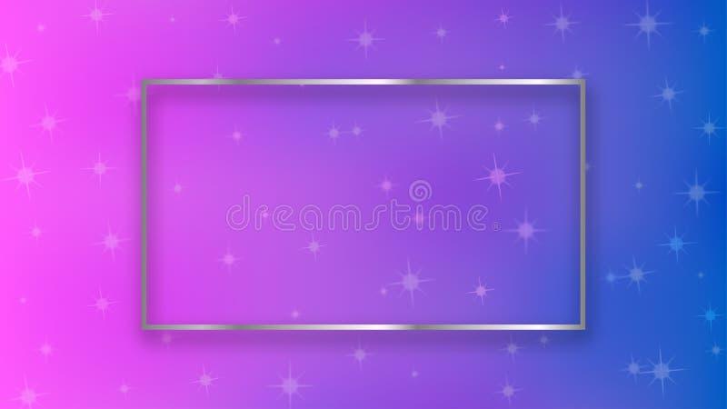 Stelle astratte di scintillio nel rosa e nel fondo blu illustrazione vettoriale