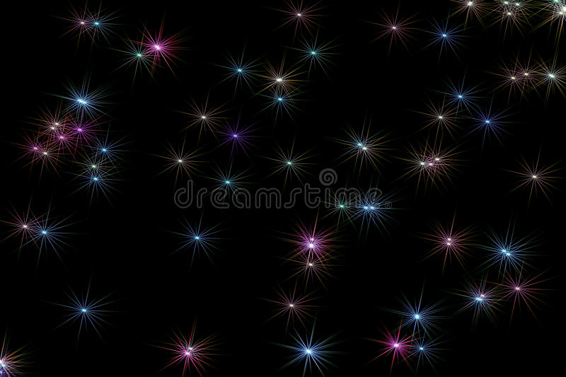 Stelle blu multiple illustrazione di stock
