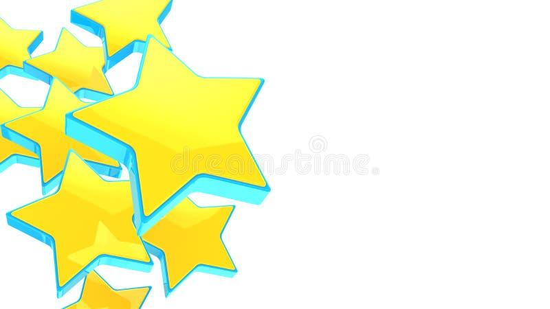 Stelle blu multiple illustrazione vettoriale