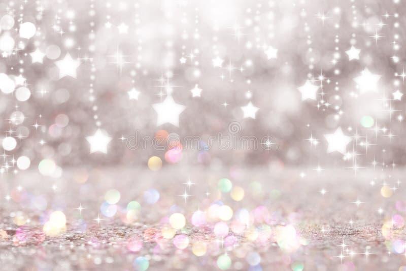 Stelle brillanti con fondo leggero astratto immagini stock