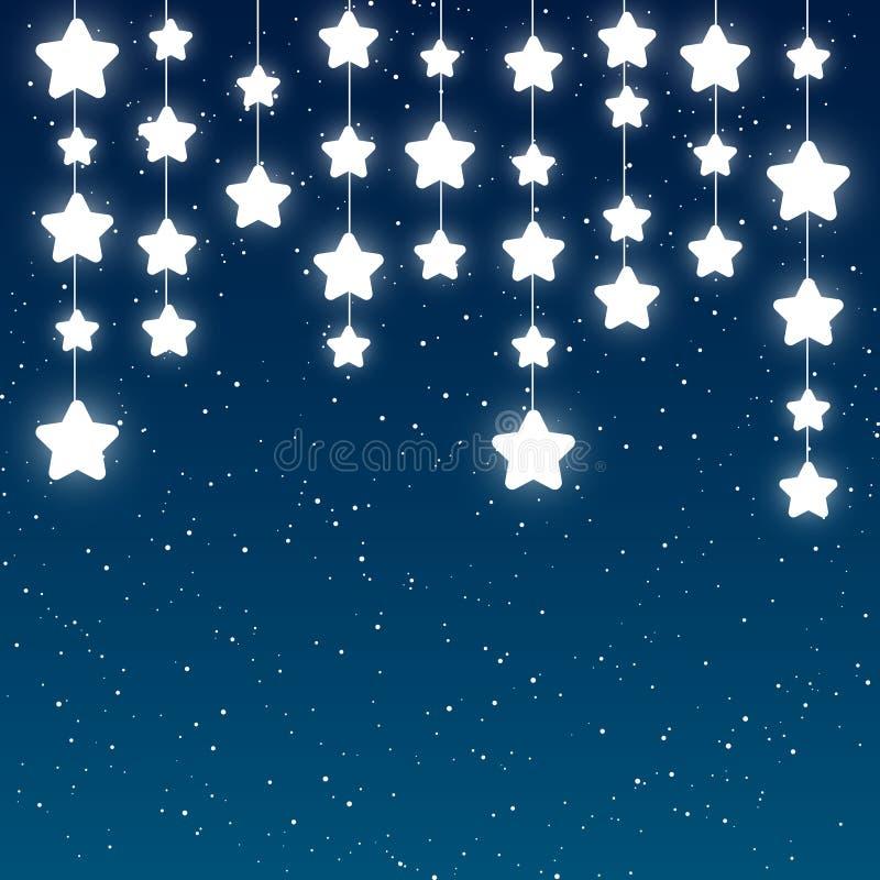 Download Stelle Brillanti Sul Fondo Del Cielo Illustrazione Vettoriale - Illustrazione di background, disegno: 56886169