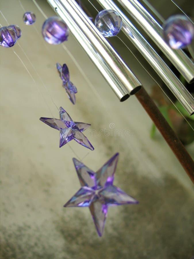 Stelle dei carillon di vento fotografie stock libere da diritti