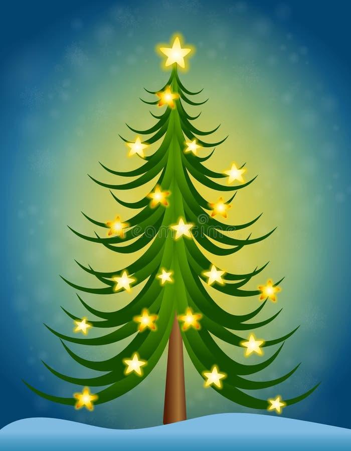 Stelle dell'albero di Natale illustrazione vettoriale