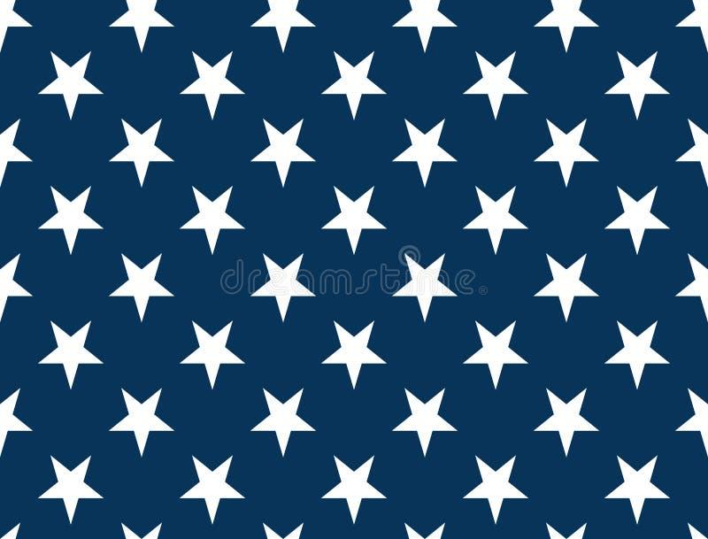 Stelle della bandiera americana - modello senza cuciture non strutturato royalty illustrazione gratis