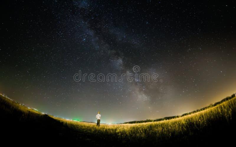 Stelle della Via Lattea immagine stock