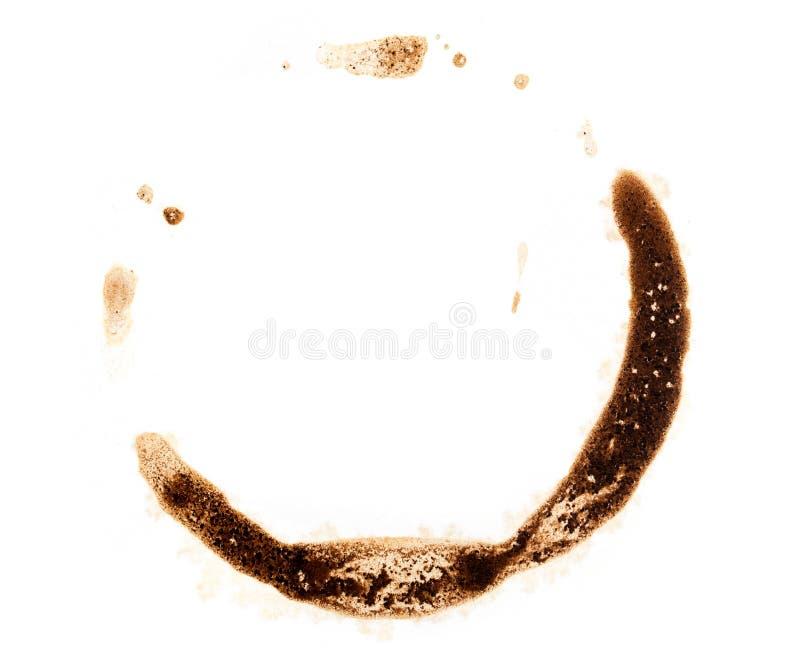 Stelle des Kaffees auf weißem Hintergrund lizenzfreies stockfoto
