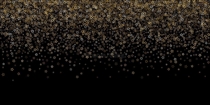 Stelle di scintillio dell'oro Coriandoli brillanti di lusso illustrazione vettoriale
