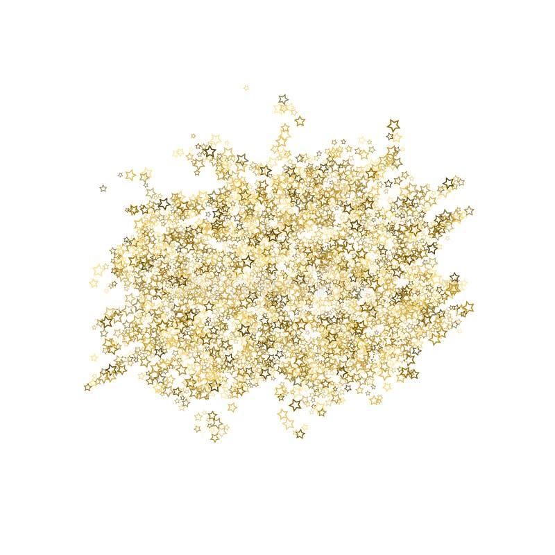 Stelle di scintillio Natale minuscolo dell'oro dei coriandoli di lusso illustrazione vettoriale