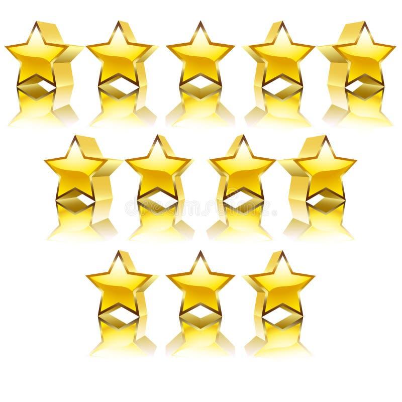 Stelle dorate illustrazione di stock