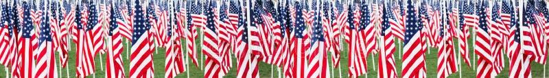Stelle e bandiera delle bande fotografie stock libere da diritti