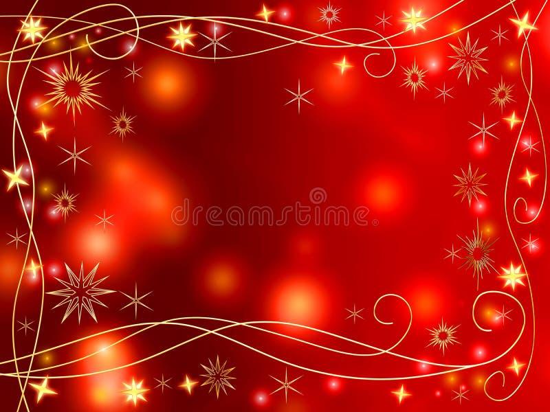 Stelle e fiocchi di neve dorati di natale 3d illustrazione di stock