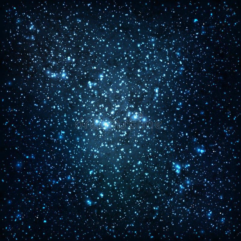 Stelle e galassie illustrazione di stock