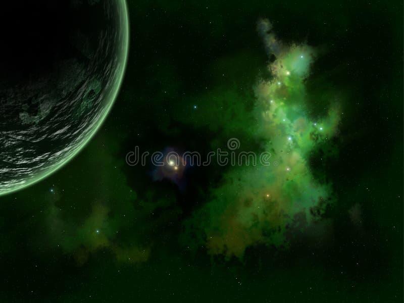 Stelle e pianeta immagini stock libere da diritti