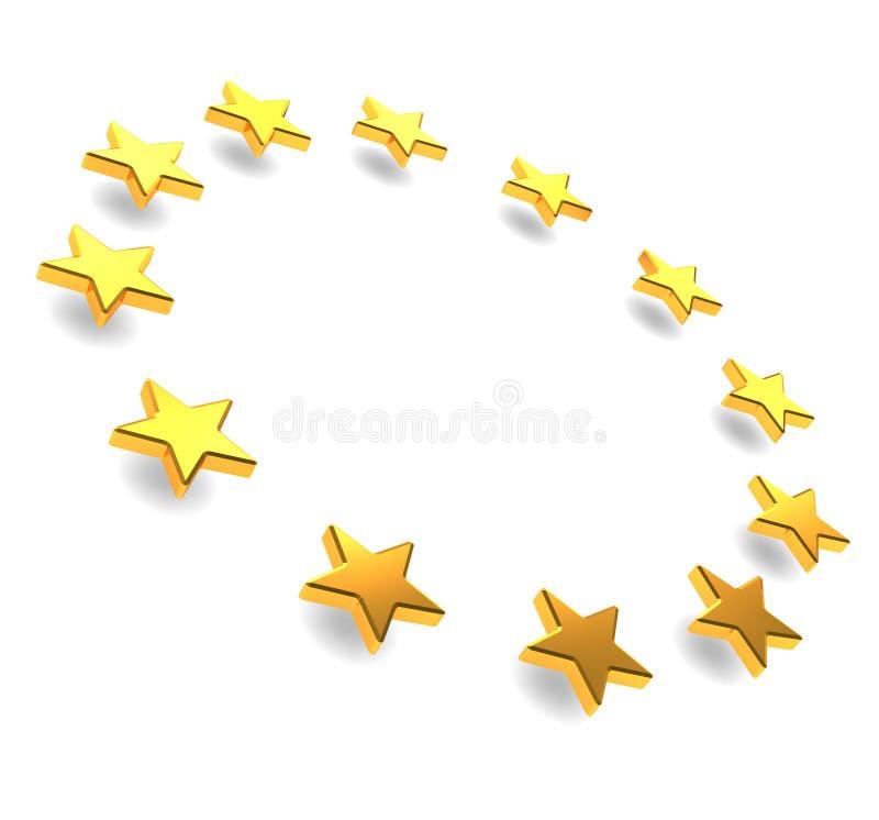 Stelle europee illustrazione di stock