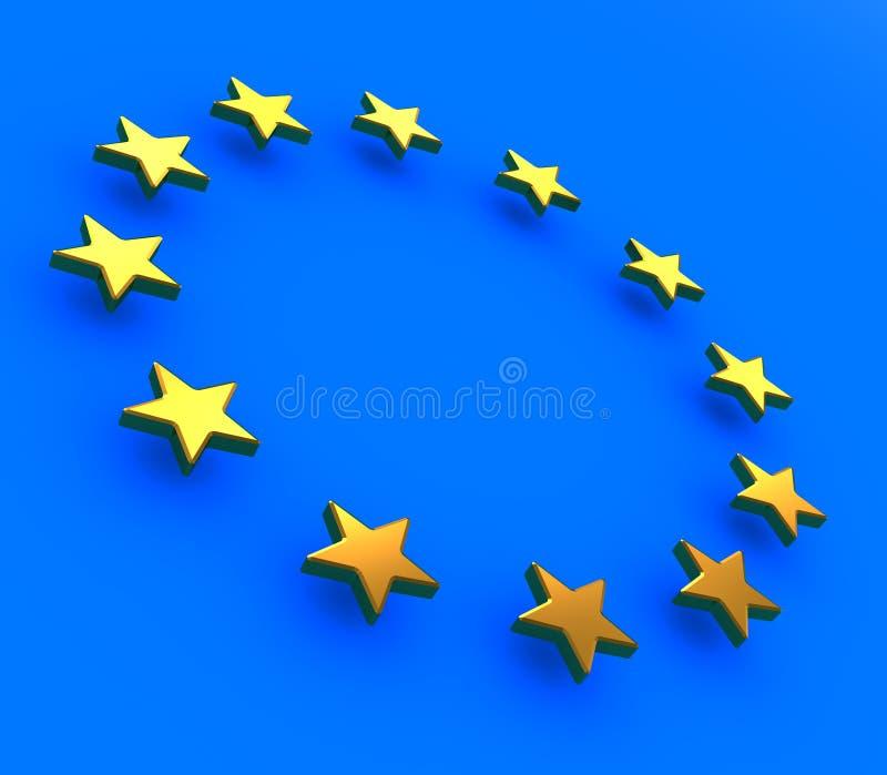 Stelle europee illustrazione vettoriale