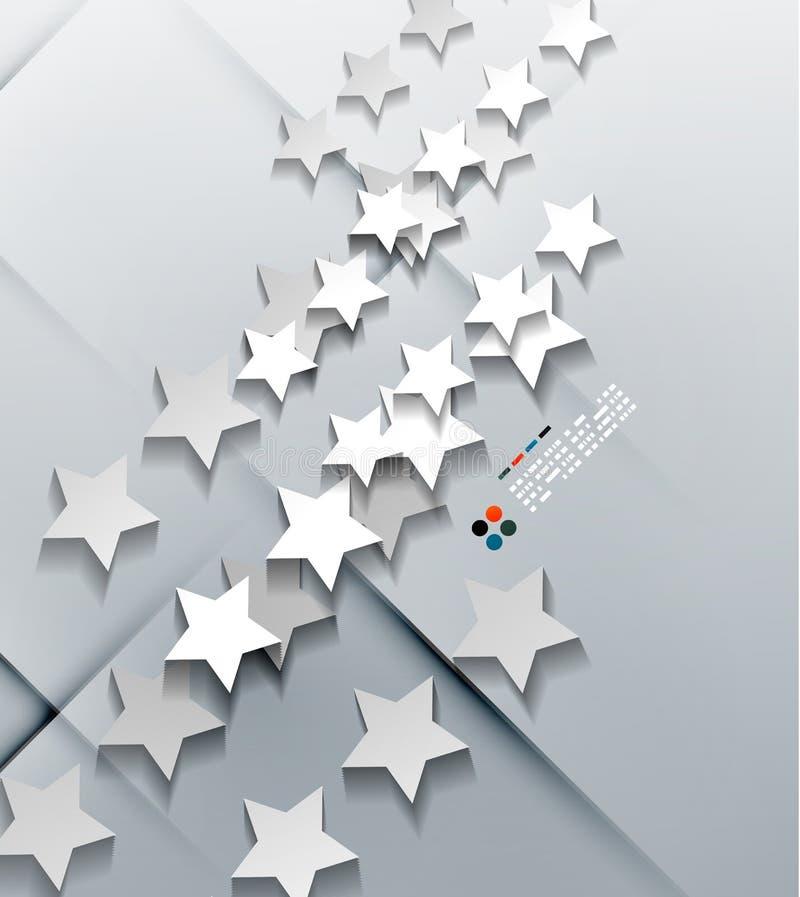 Stelle moderne della carta 3d di vettore illustrazione di stock