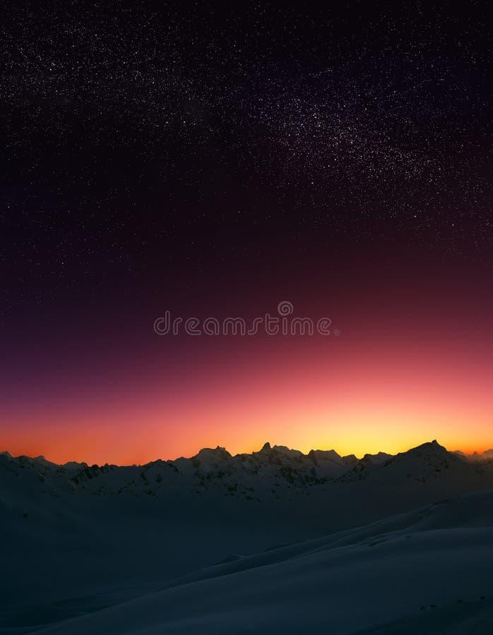 Stelle in montagne immagini stock libere da diritti