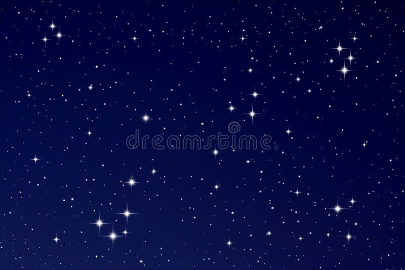 Stelle nel cielo notturno fotografie stock libere da diritti