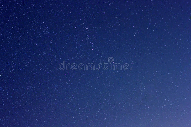 Stelle reali nel cielo notturno immagini stock