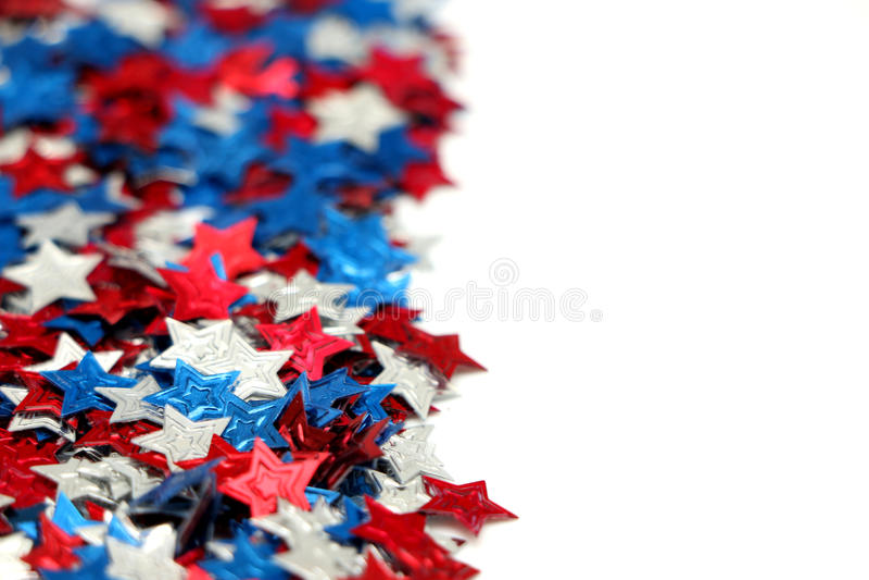 Stelle rosse, bianche e blu fotografia stock