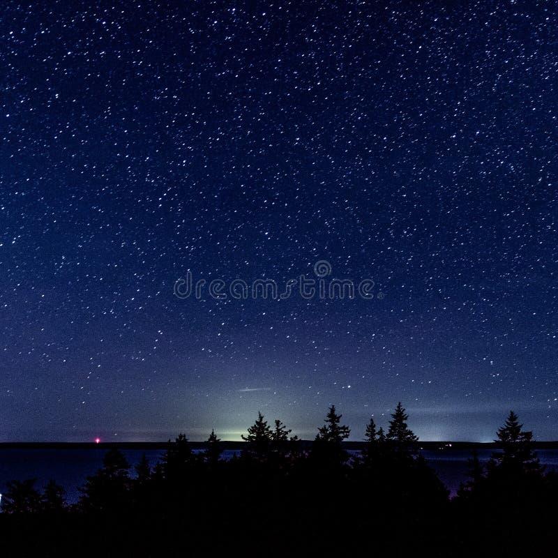Stelle sopra Nuova Scozia fotografia stock libera da diritti