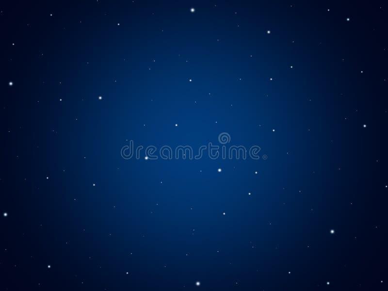 Stelle in universo, cielo notturno illustrazione di stock