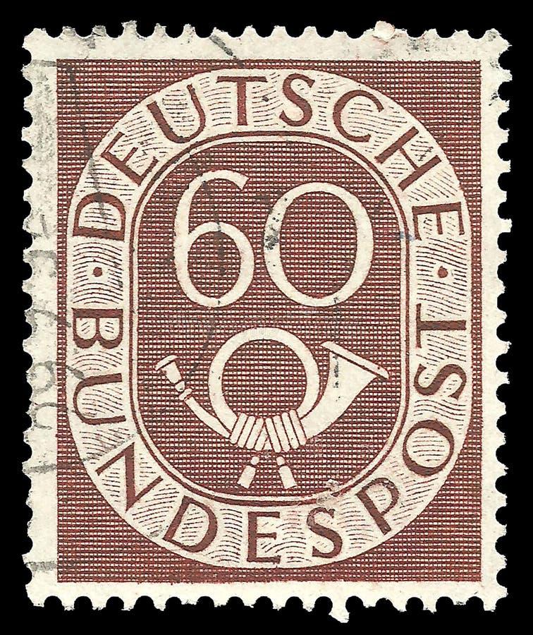 Stellen mit Posthorn stockbild