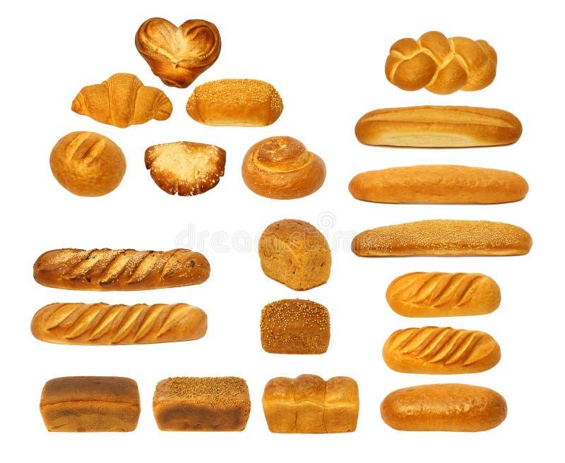 Stellen Sie Brote ein lizenzfreie stockbilder
