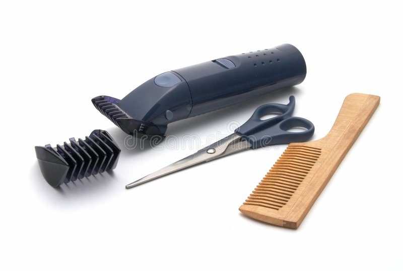 Stellen Sie für eine Frisur des Haares ein lizenzfreie stockfotos
