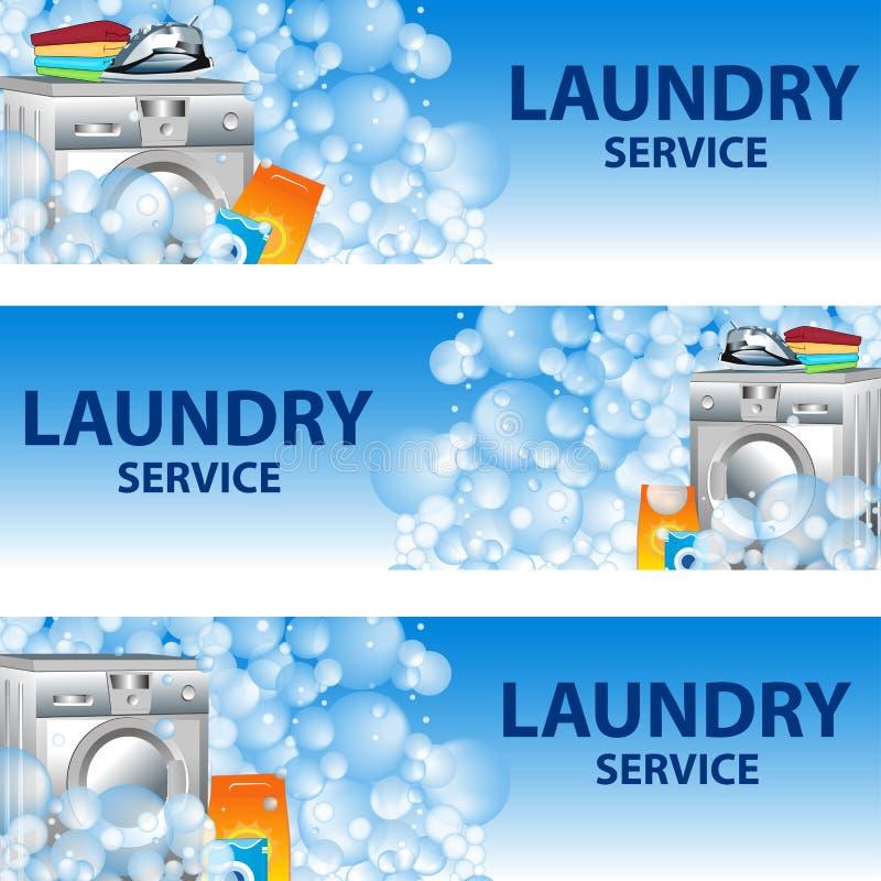 Stellen Sie Fahnen-Wäsche-Service Ein Plakatschablone Für ...