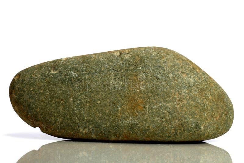 Stellen Sie Felsenstein mit den Namen ein, lokalisiert auf einem weißen Hintergrund mit Schatten, schöne Beleuchtung, Reflexionen stockfotografie