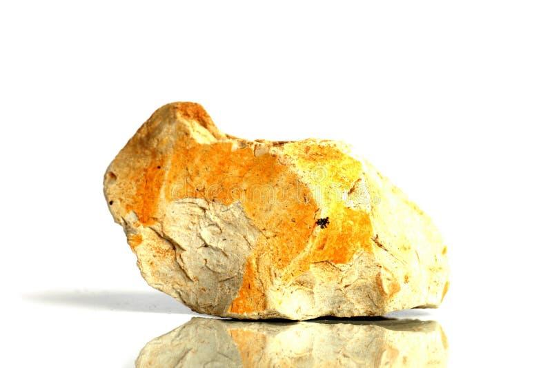 Stellen Sie Felsenstein mit den Namen ein, lokalisiert auf einem weißen Hintergrund mit Schatten, schöne Beleuchtung, Reflexionen lizenzfreie stockbilder