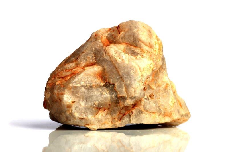 Stellen Sie Felsenstein mit den Namen ein, lokalisiert auf einem weißen Hintergrund mit Schatten, schöne Beleuchtung, Reflexionen lizenzfreies stockbild