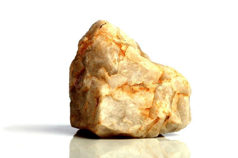 Stellen Sie Felsenstein mit den Namen ein, lokalisiert auf einem weißen Hintergrund mit Schatten, schöne Beleuchtung, Reflexionen stockbild