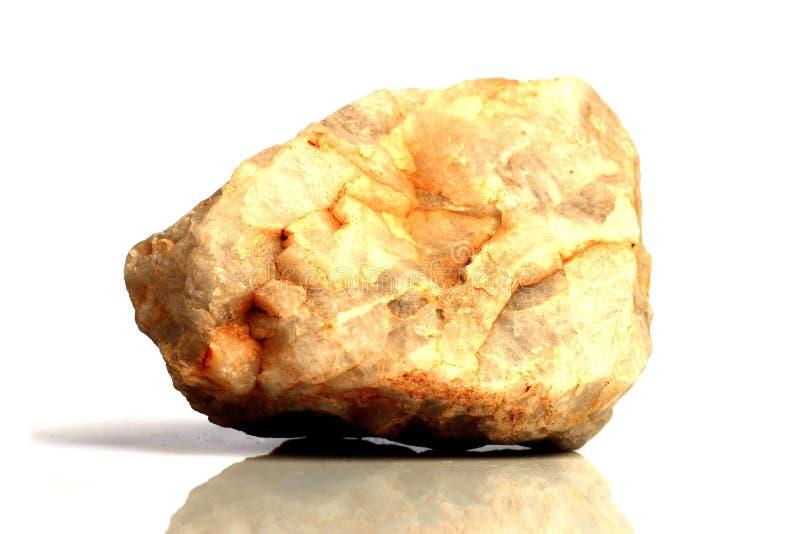 Stellen Sie Felsenstein mit den Namen ein, lokalisiert auf einem weißen Hintergrund mit Schatten, schöne Beleuchtung, Reflexionen stockfotos