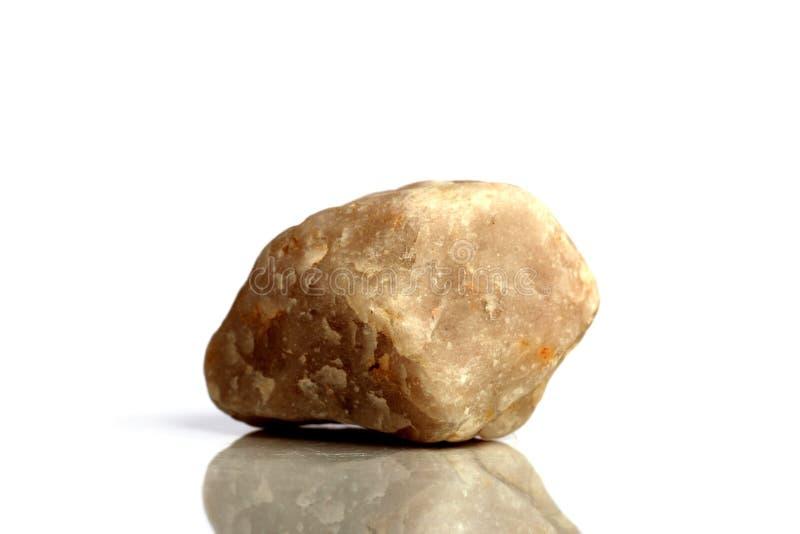 Stellen Sie Felsenstein mit den Namen ein, lokalisiert auf einem weißen Hintergrund mit Schatten, schöne Beleuchtung, Reflexionen stockbilder