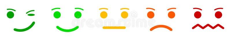 Stellen Sie Gefühlgesichter smilies ein, stellen Sie smileygefühl, durch smilies, Karikatur Emoticons - Vektor ein vektor abbildung