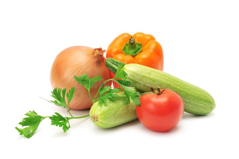Stellen Sie Gemüse ein stockbild