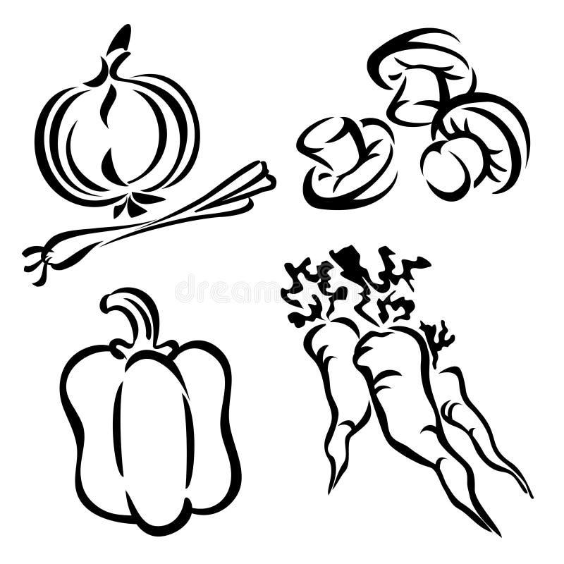 Stellen Sie Gemüse ein vektor abbildung