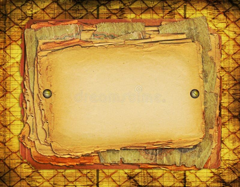 Stellen Sie grunge altes Papier O ein lizenzfreie abbildung