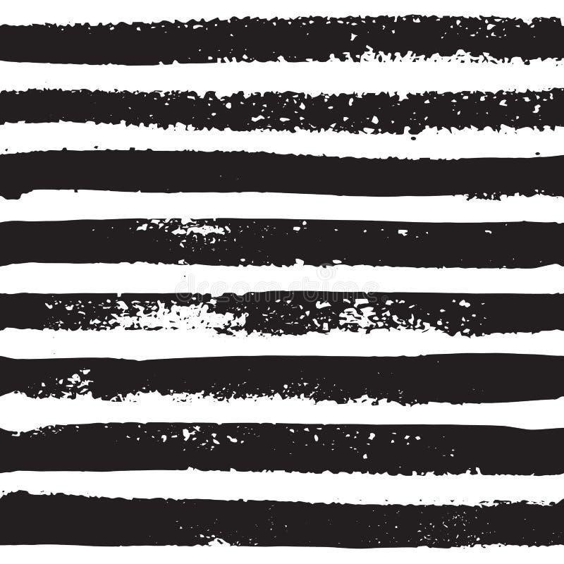 Stellen Sie Handabgehobener betrag gestreiftes nahtloses Muster, Seehintergrund für Ihr Design ein stock abbildung