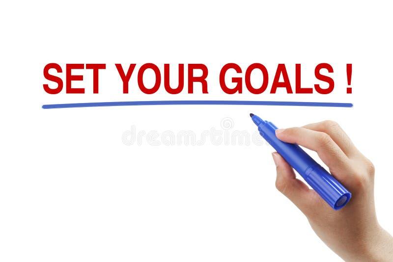 Stellen Sie Ihre Ziele ein lizenzfreies stockfoto