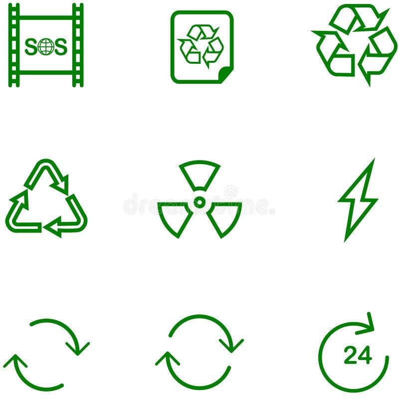 Stellen Sie Ikone aufbereiten, Einstellungen für unterschiedlichen Entwurf ein lizenzfreie abbildung