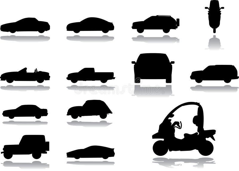Stellen Sie Ikonen - 6 ein. Autos stock abbildung