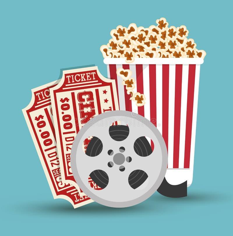 Stellen Sie Kinofilm-Ikonendesign ein vektor abbildung